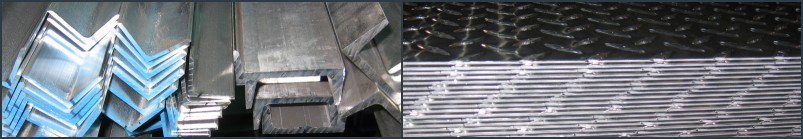 Light Structural Aluminum Strips/Flats, Round Stock Angles, Channels,  Round, Square, & Rectangular Tubing